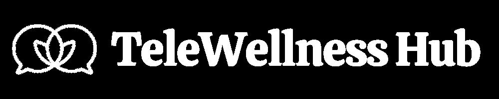 TeleWellness Hub Logo White Full